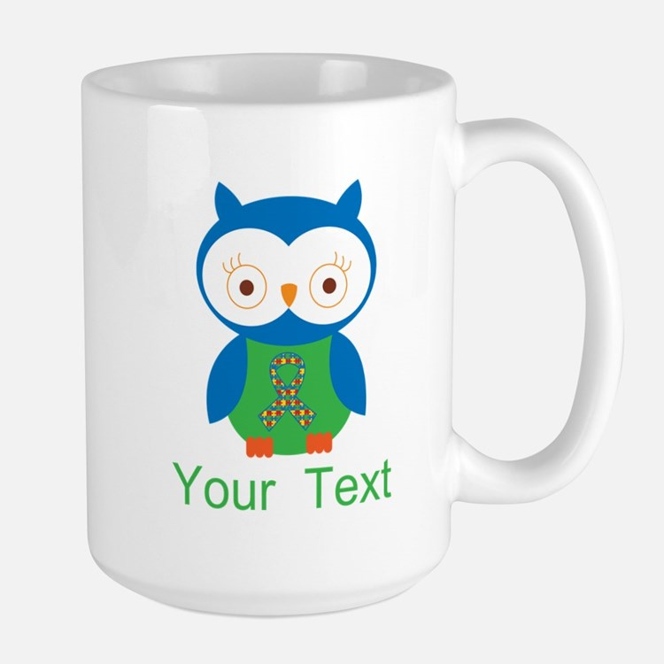 Personalized Autism Owl Mugs