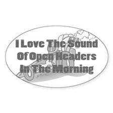 Open Headers Oval Decal