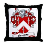Beatson Family Crest Throw Pillow