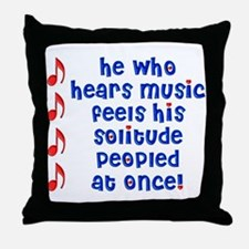 Music 'Peoples' Solitude Throw Pillow
