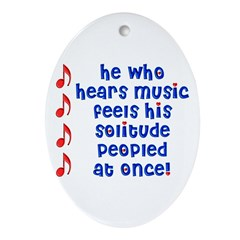 Music 'Peoples' Solitude Oval Ornament