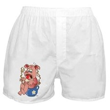 Pig on Pot Boxer Shorts
