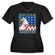 PROUD TO BE AN AMERICAN Women's Plus Size V-Neck D
