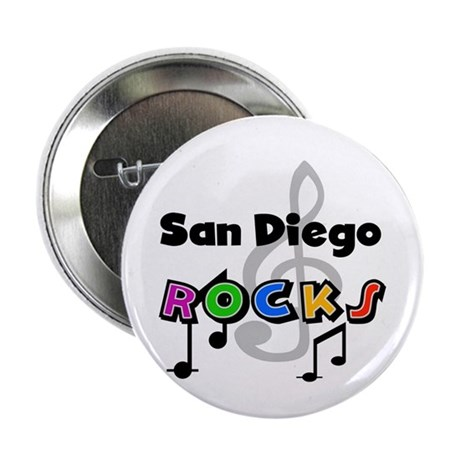 """San Diego Rocks 2.25"""" Button (10 pack)"""