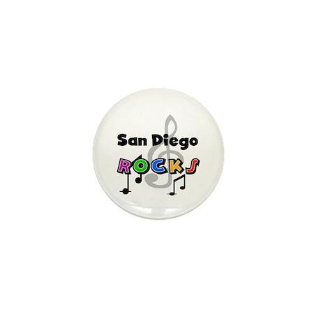 San Diego Rocks Mini Button (10 pack)