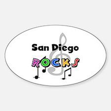 San Diego Rocks Oval Decal