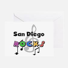 San Diego Rocks Greeting Card