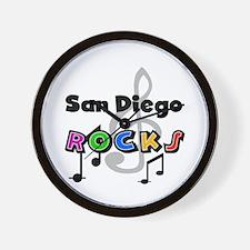 San Diego Rocks Wall Clock