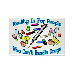 Reality Is For People Rectangle Magnet (100 pack)