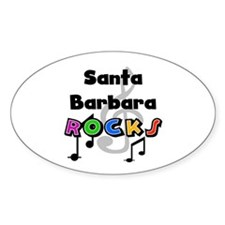 Santa Barbara Rocks Oval Decal