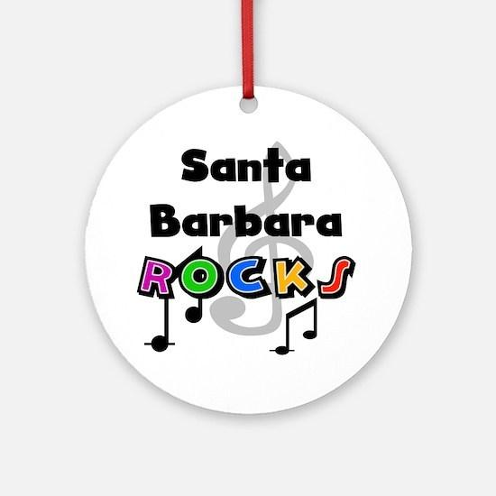 Santa Barbara Rocks Ornament (Round)