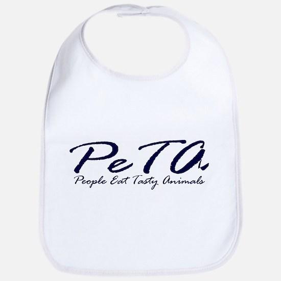 PETA (People Eat Tasy Animals) Bib