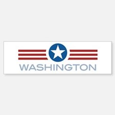 Star Stripes Washington Bumper Bumper Bumper Sticker