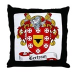 Bertram Family Crest Throw Pillow