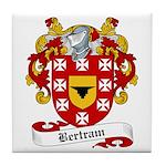 Bertram Family Crest Tile Coaster