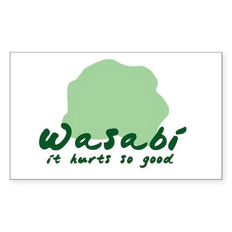Wasabi shirt Rectangle Sticker