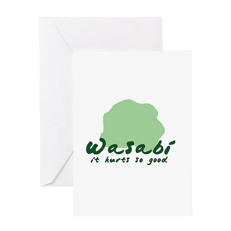 Wasabi shirt Greeting Card