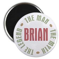 """Brian Man Myth Legend 2.25"""" Magnet (100 pack)"""