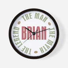 Brian Man Myth Legend Wall Clock