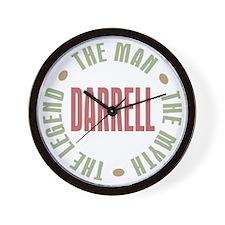Darrell Man Myth Legend Wall Clock
