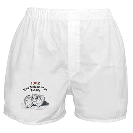 I Love NZW Rabbits Boxer Shorts