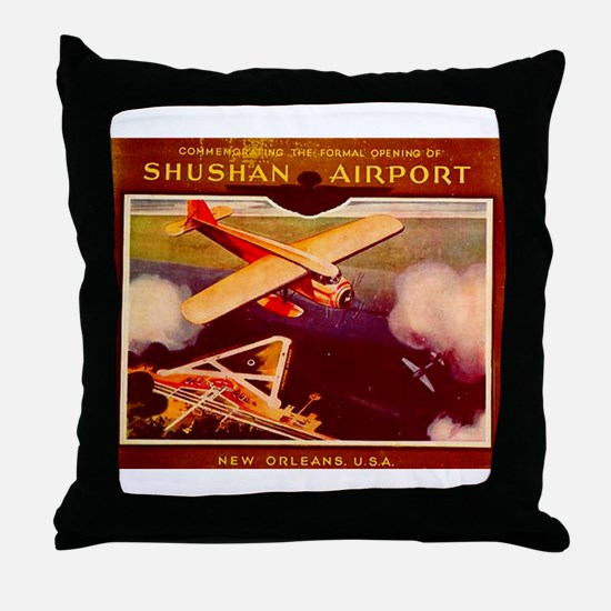 Shushan Airport (now New Orle Throw Pillow