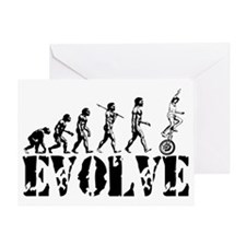 Unicycle Unicycling Unicyclist Greeting Card