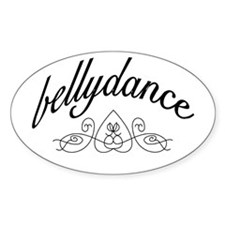 Bellydance (turkish heart des Oval Decal