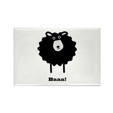 Sheep Rectangle Magnet