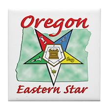 Oregon Eastern Star Tile Coaster