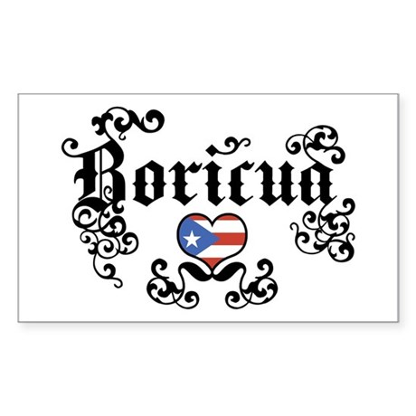 Boricua Rectangle Sticker