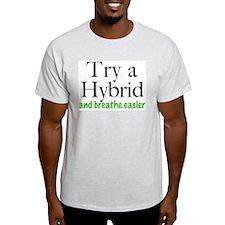 Try A Hybrid Ash Grey T-Shirt