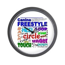 Canine Freestyle Wall Clock