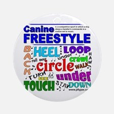 Canine Freestyle Ornament (Round)