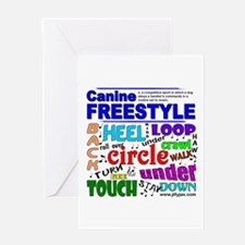 Canine Freestyle Greeting Card