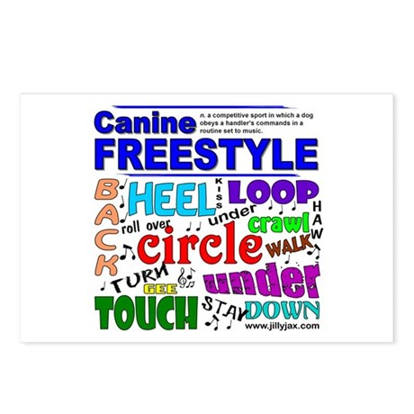 Canine Freestyle Postcards (Package of 8)