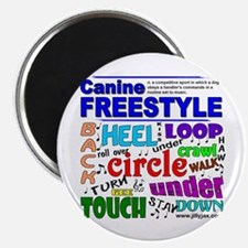 "Canine Freestyle 2.25"" Magnet (100 pack)"