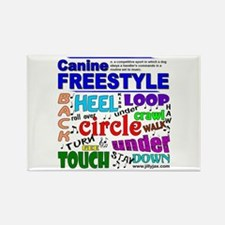 Canine Freestyle Rectangle Magnet