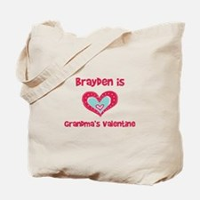 Brayden Is Grandma's Valentin Tote Bag