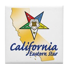California Eastern Star Tile Coaster