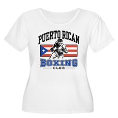 Puerto Rican Boxing Women's Plus Size Scoop Neck T