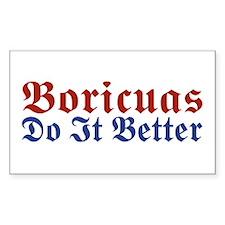 Boricuas Do it Better Rectangle Stickers