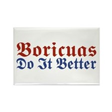 Boricuas Do it Better Rectangle Magnet