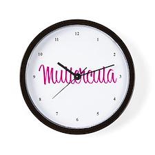 Muliercula [Latin for Bimbo] Wall Clock