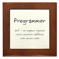 Programmer Framed Tile