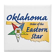 Oklahoma Eastern Star Tile Coaster