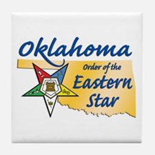 Oklahoma Eastern Star Tile Coaster