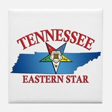 Tennessee Eastern Star Tile Coaster