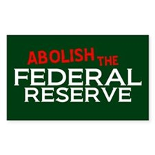 Abolish The Fed Rectangle Decal