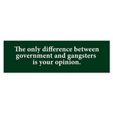 Government & Gangsters Bumper Car Car Sticker